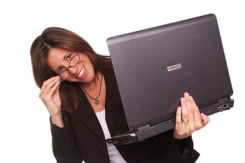 website designer woman with laptop